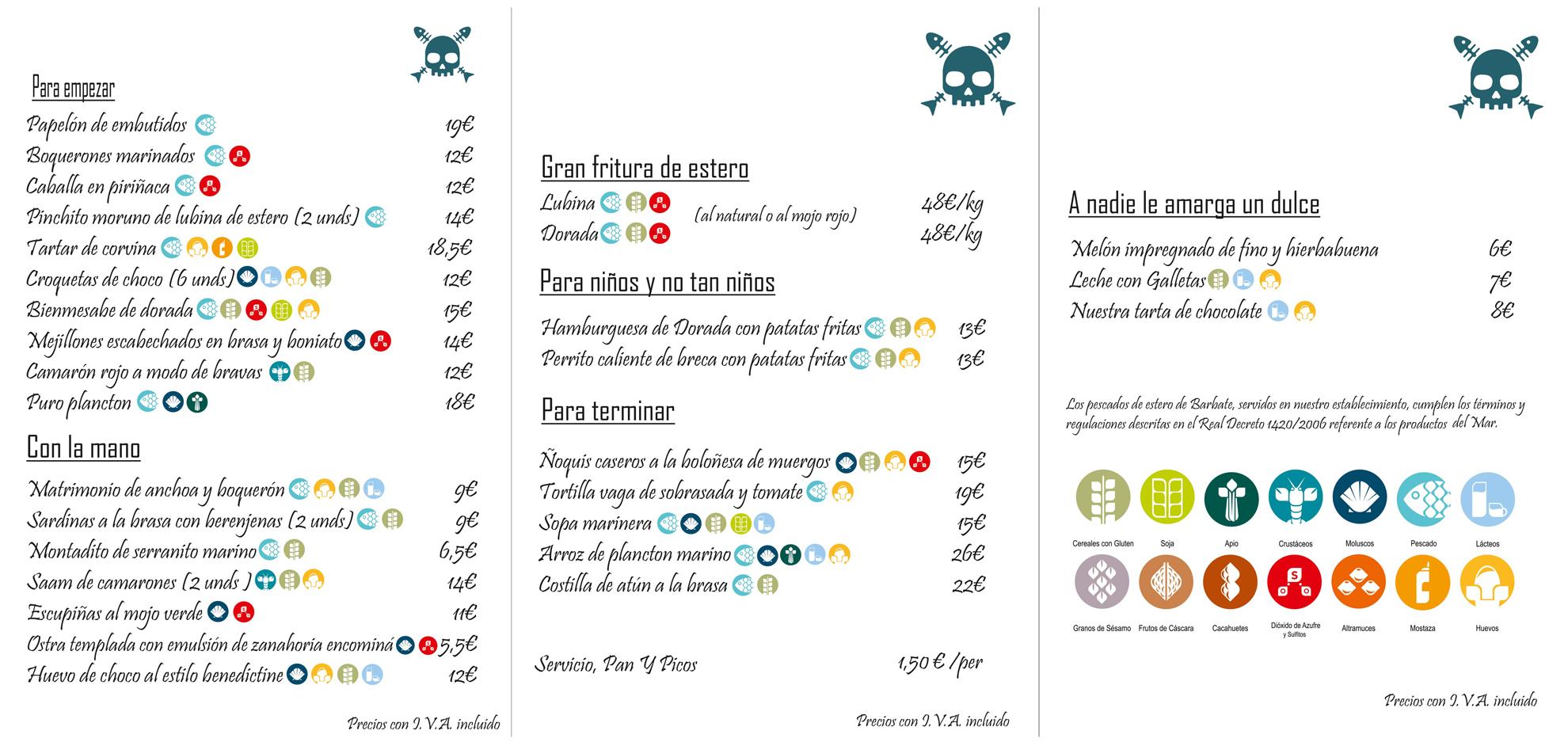 La Taberna del Chef Del Mar | Menu